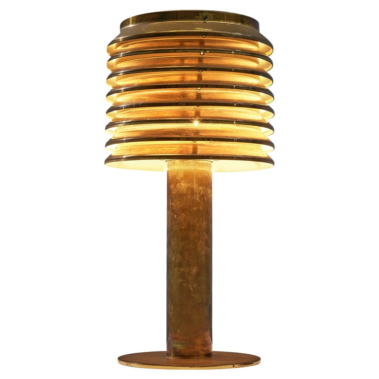 Hans-Agne Jakobsson Table Lamp in Brass For Sale