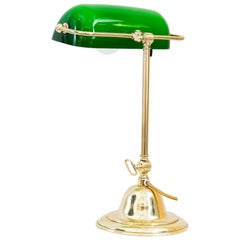 Swiveling Art Deco Table Lamp 'Banker Lamp' Vienna, Around 1920s