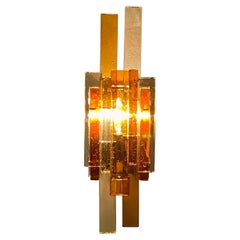 Large Glass Wall Sconce by Svend Aage Holm Sørensen, 1960s
