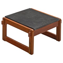 Percival Lafer Side Table in Wood and Slate