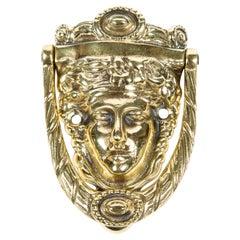 Brass Door Knocker Depicting the Goddess Pamona