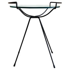 Iron and Glass Side Table in the Manner of Sol Bloom