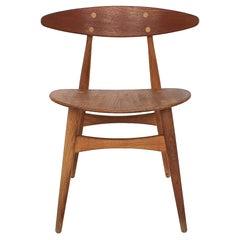 Teak Dining Chair CH33T by Hans Wegner for Carl Hansen and Son, Denmark 1950's