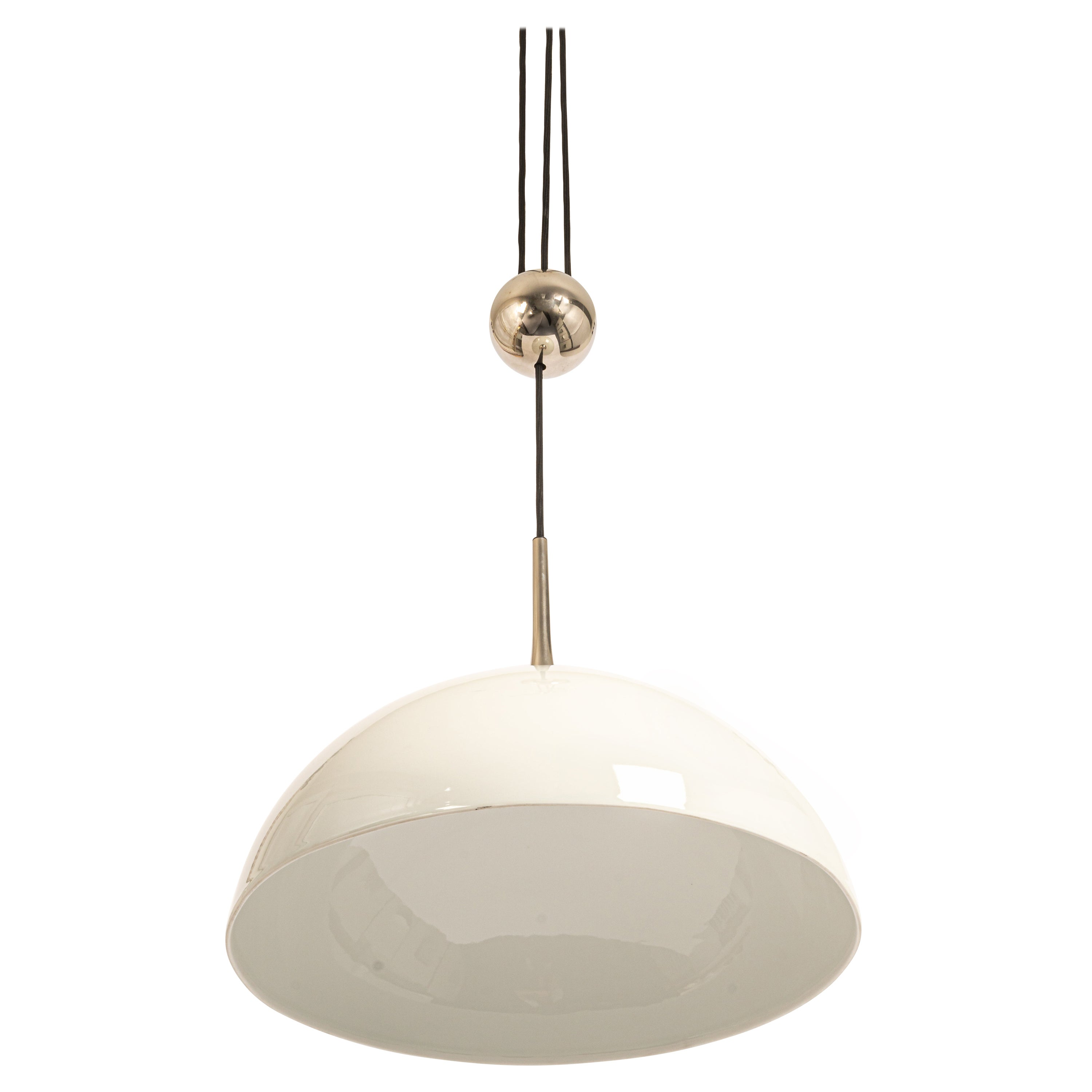 Large Adjustable Chrome Counterweight Pendant Light by Florian Schulz, Germany