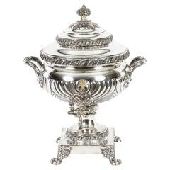 Antique Regency Old Sheffield Silver Plated Tea Urn Samovar 19th Century