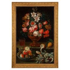 Italian 17th Century Oil on Canvas Still Life, from Rome