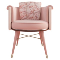 21st Century Helen Dining Chair Cotton Velvet Wood