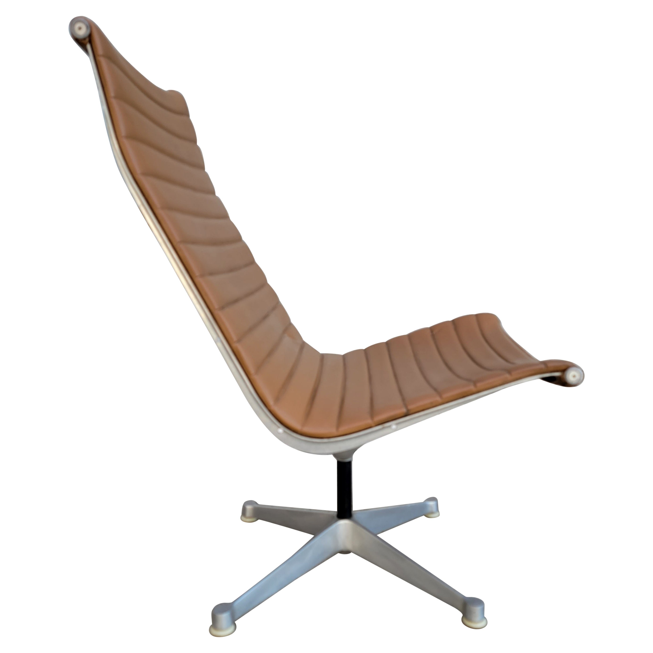 Early Eames Aluminum Group Swivel Chair