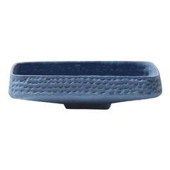 21st Century Blue Matt Hammered Bowl by Ceramica Gatti, designer A. Anastasio