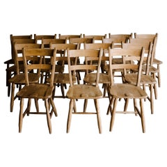 Vintage Set of 18 Dining Chairs from Denmark, Circa 1970