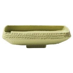 21st Century Green Matt Hammered Bowl by Ceramica Gatti, designer A. Anastasio
