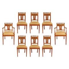 Set of Mid-19th Century Biedermeier Dining Room Chairs