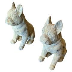 Contemporary Limestone Bulldogs from France
