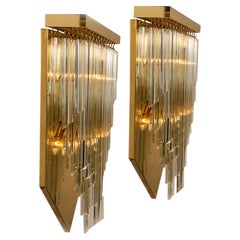 1 of the 6 XXL 'H29.9' Venini Style Murano Glass and Gilt Brass Sconces, 1960s