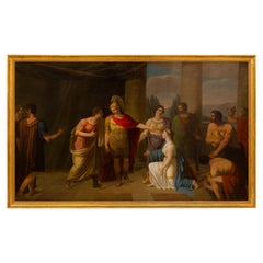 Continental 19th Century Neo-Classical St. Oil on Canvas Painting
