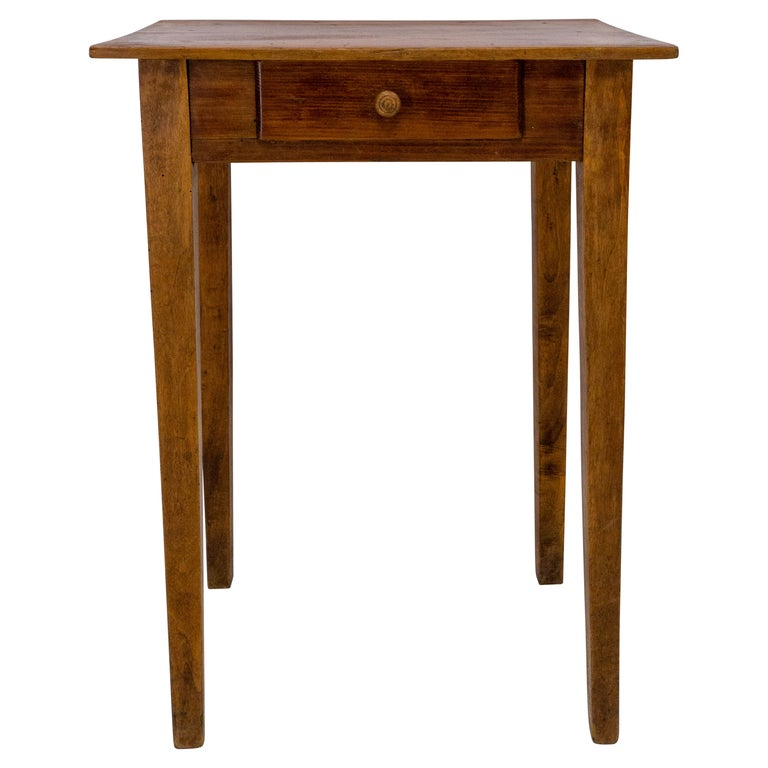 Side Table or End Table with Drawer French, Early 20th Century For Sale