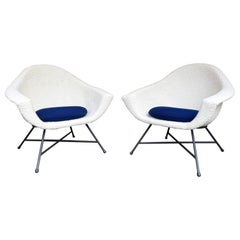 Pair of Armchairs 58 by Dangles & Defrance for Burov. France, 1950s