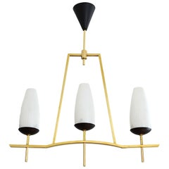 Lunel French Midcentury Chandelier, 1950s
