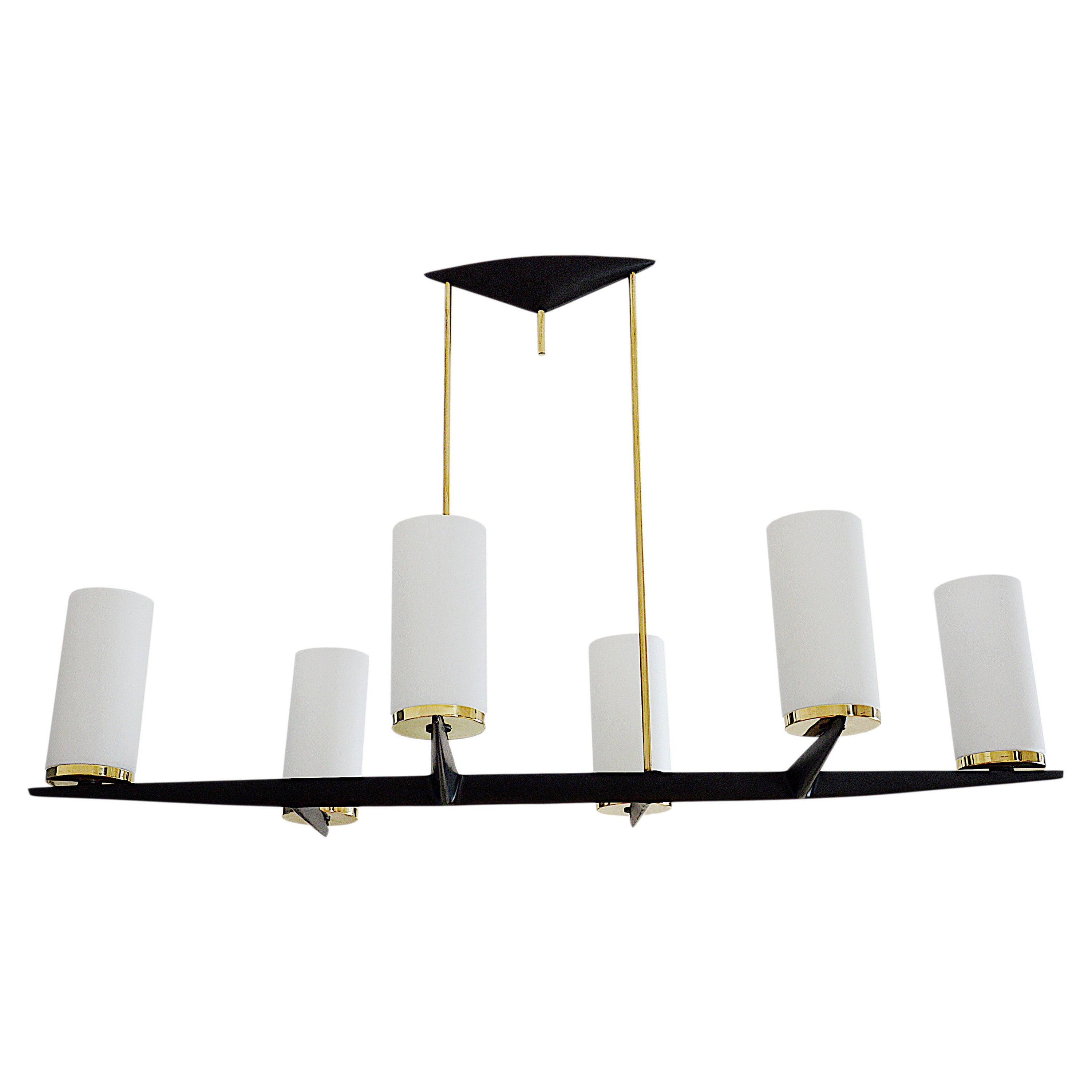 Arlus French Midcentury Classy Chandelier, 1950s