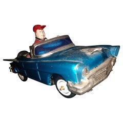 """Tin Litho """"Bump N Go Car"""" Windup Japan C1960"""
