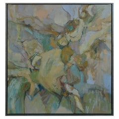 Oil on Canvas, American School Mid-Century Abstract Expressionist Painting