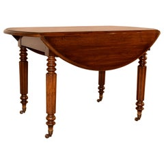 19th Century Louis Philippe Drop-Leaf Table