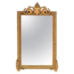 Antique Napoleon III Style Gilt Wood Mirror