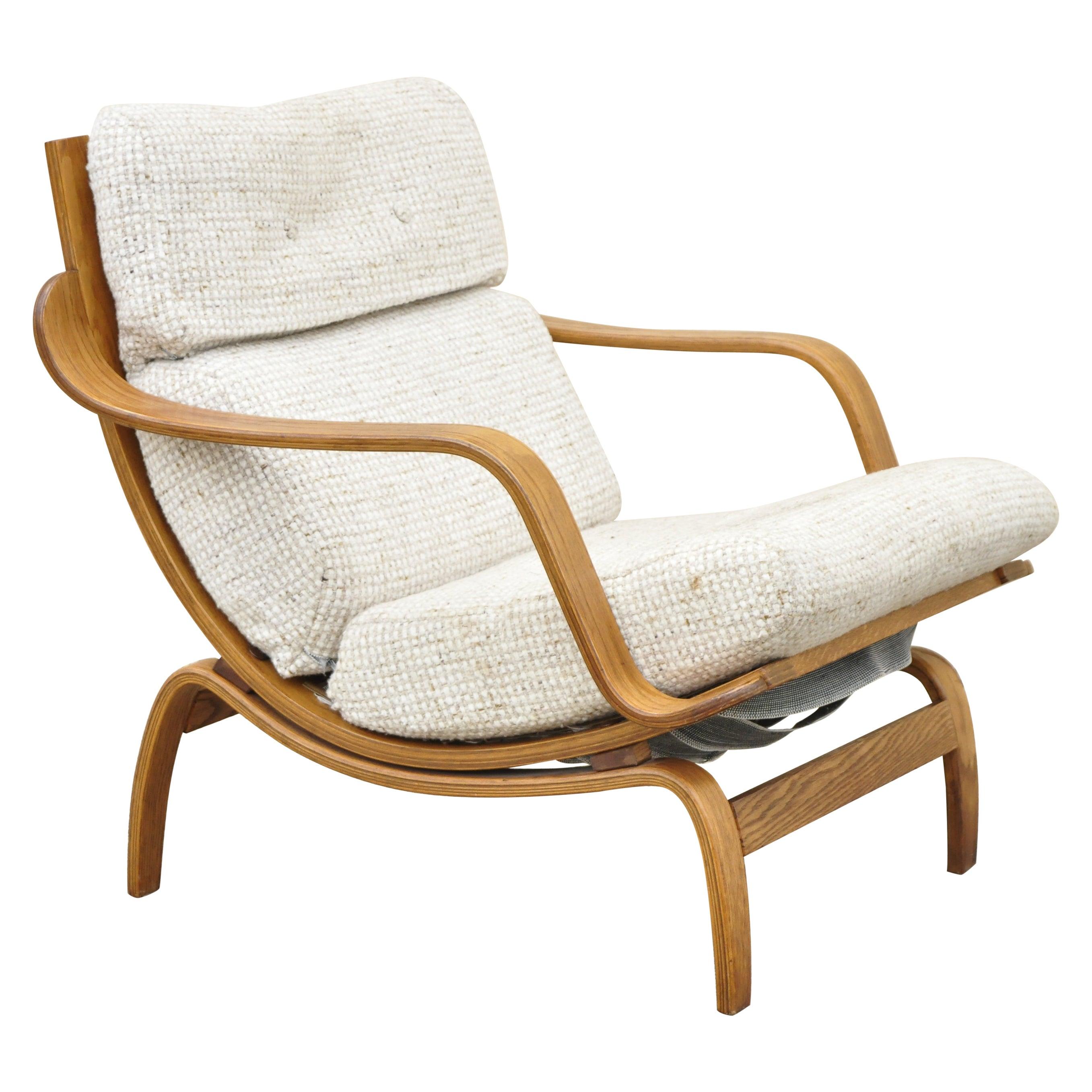 Charlton Century 21 Orbit Lounge Chair Mid Century Modern Vintage Bentwood Frame