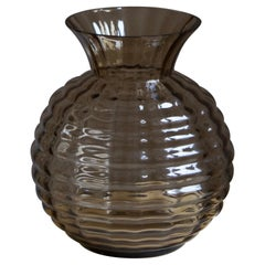 Edward Hald, Vase, Smoked Blown Glass, Orrefors, Sweden, 1930s