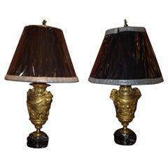 Pair of Gilt Bronze Lamps