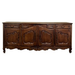 Grand Early 19th Century Country French Cherry Wood Buffet