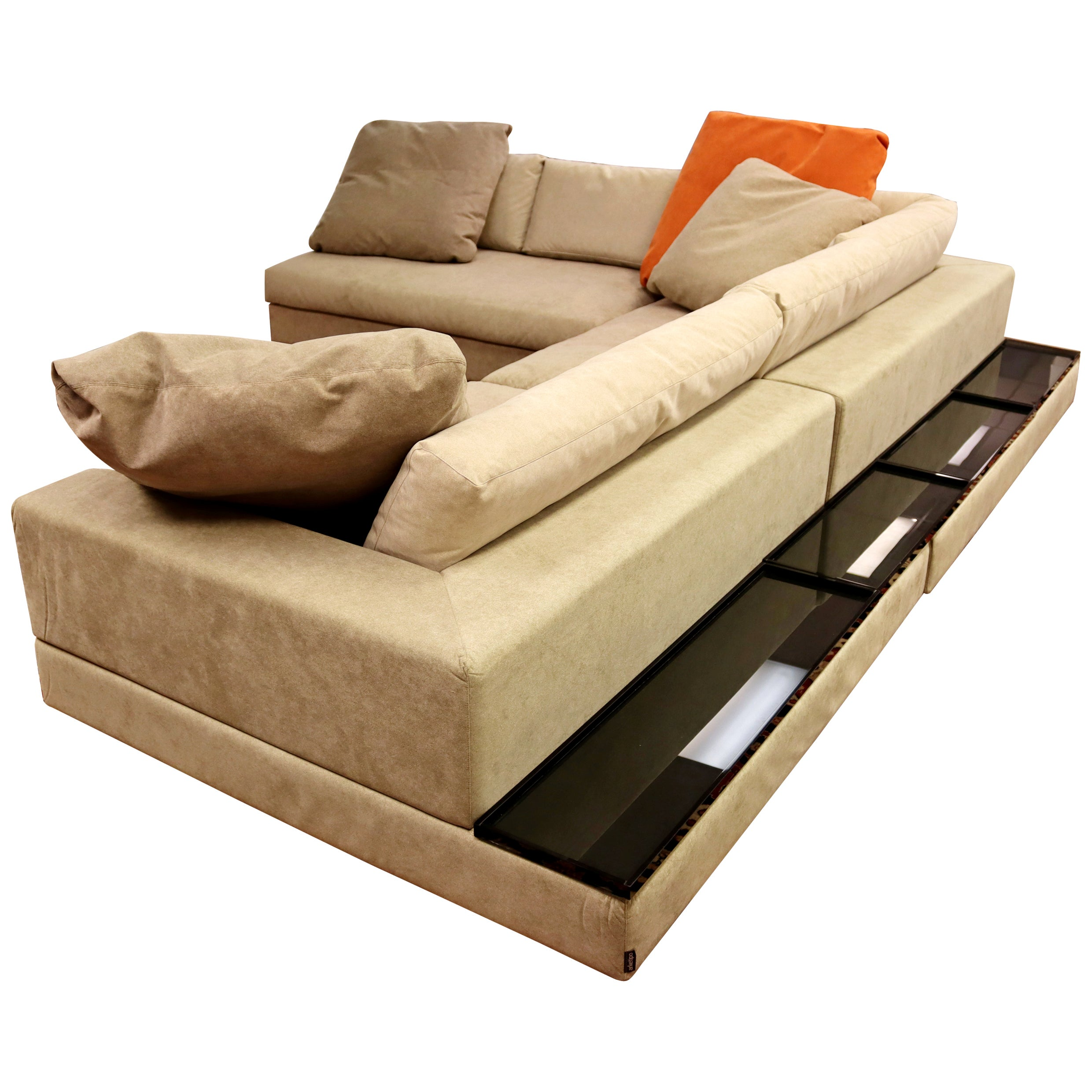 Contemporary Modern Arketipo Large L Shape 3 Piece Sectional Sofa, Italy, 1990s