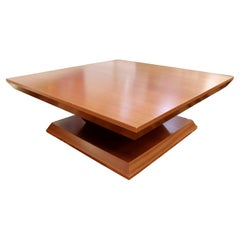 Contemporary Post Modern Square African Mahogany Coffee Table, 1990s