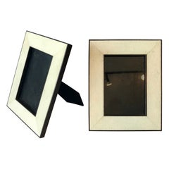 Pair of Shagreen Picture Frames