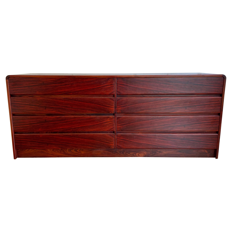 Danish Modern Rosewood 8 Drawer Dresser by Westnofa