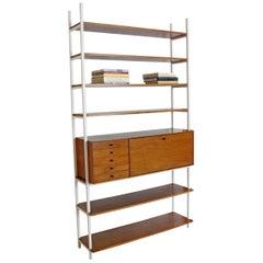 Mid-Century Modern Milo Baughman Arch Gordon Walnut Wall Unit Shelving Bookcase