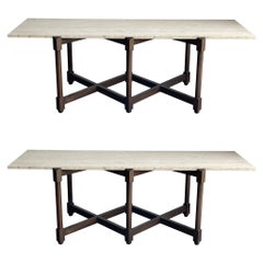 Pair of Large Scale Sofa or Console Tables Attributed to Edward Wormley/ Dunbar