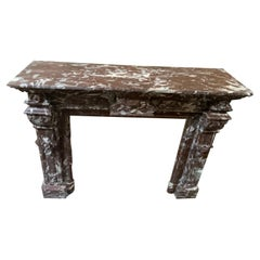19th Century Brown Marble Mantle