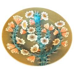 """Flowering Cactus,"" Rare, Brilliantly Glazed Art Deco Bowl by Waylande Gregory"