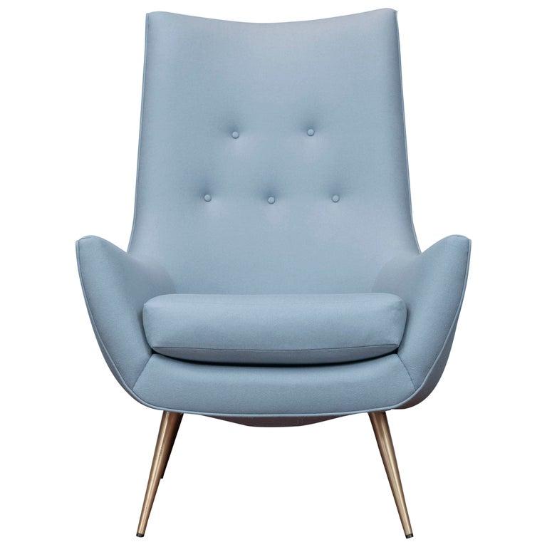 Mid-Century Modern High Back Lounge Chair