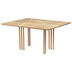 21st Century Foresta Table, Myrtle Burl, White Maple, Cedar Legs, Made in Italy