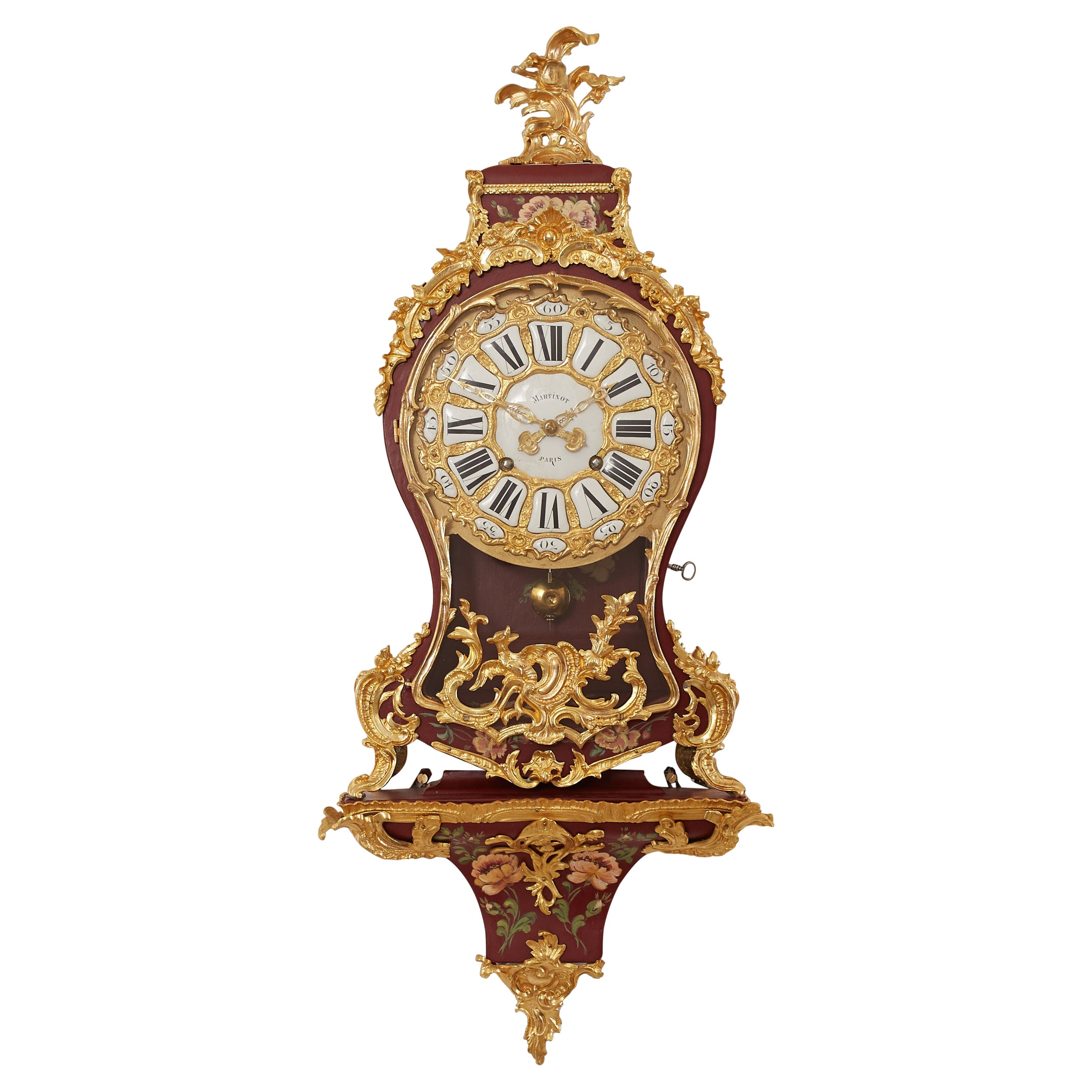 Antique Ormolu French Cartel Clock, Honoring Femininity in Art