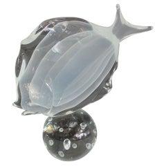 Murano Glass Fish Sculpture by Licio Zanetti