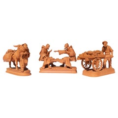 Late Grand Tour Italian Sculptures Signed Grasso