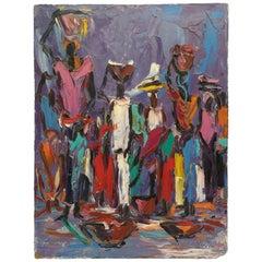 Women Carrying Burdens on Her Heads by Louis Koyongonda