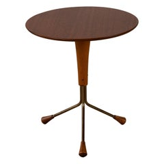 Teak and Brass Side Table by Albert Larsson for Alberts Tibro