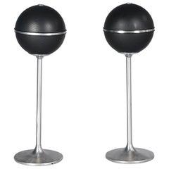 Set of Two Loudspeakers Grundig Audiorama 4000, 60-70 Mid-Century Space Age Vtg