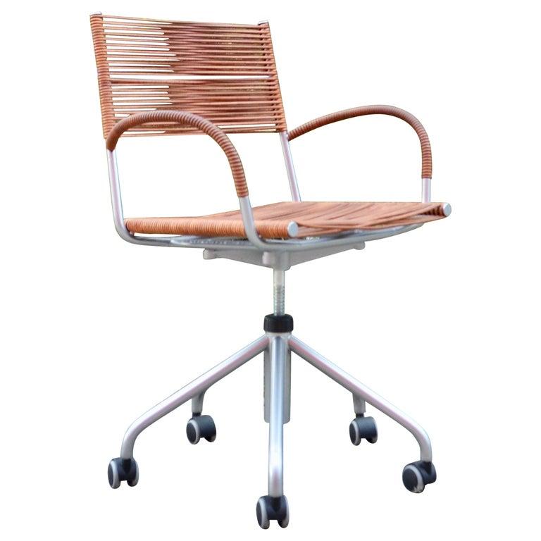 Vintage Bonacina Miss B Classic Wheels Office Chair by Tito Agnoli For Sale