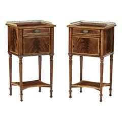 Pair of Regency Style Bedside Tables