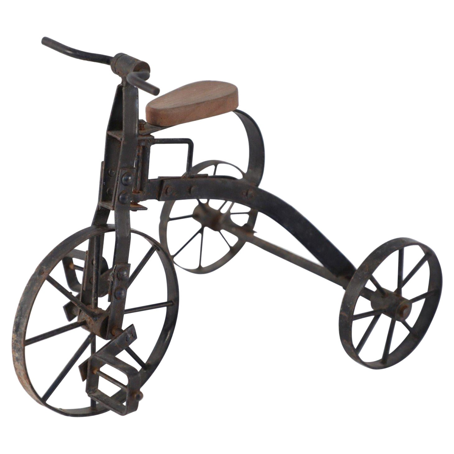 American Country Iron Miniature Bicycle Sculpture